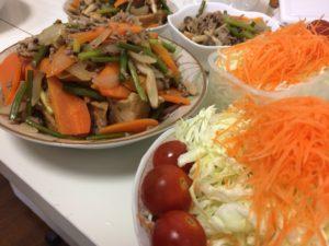 厚揚げと挽肉の炒め物
