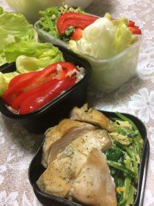 キャベツと赤パプリカのサラダ