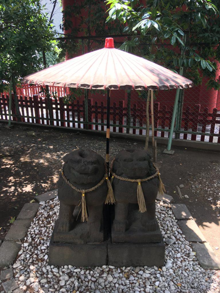 浅草神社夫婦狛犬
