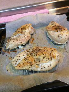鳥胸肉の味噌焼き