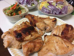 鳥胸肉の味噌漬け焼き