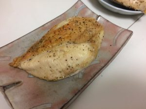 鳥むね肉のハーブソルト焼き
